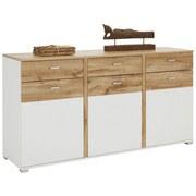 Komoda Sideboard In Weiß/eichefarben - bílá/barvy dubu, Moderní, dřevěný materiál (170/88/44cm) - MODERN LIVING