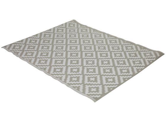 Outdoorteppich 150x200 Weiß/beige - Beige/Weiß, MODERN, Kunststoff (150/200cm)