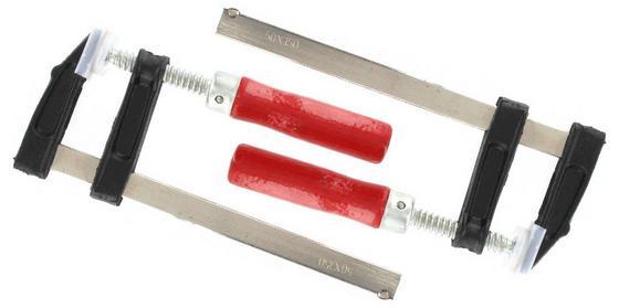Schraubzwingensatz 2 teilig - Rot/Silberfarben, KONVENTIONELL, Metall (15cm)