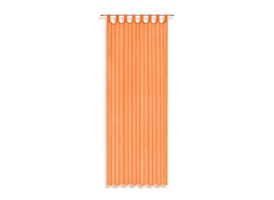 Vorhang mit Schlaufen und Band Utila B: 140 cm, Orange - Orange, KONVENTIONELL, Textil (140/245cm) - Ombra