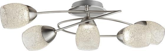 LED-Spotrondel Else - Chromfarben/Nickelfarben, MODERN, Glas/Kunststoff (57/34/17cm)