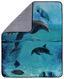 Kuscheldecke Delfine - Blau, Textil (130/160cm)
