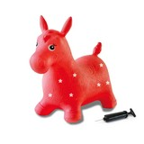 Hüpftier Pferd Rot ca. 58/28/47cm - Rot/Weiß, Basics, Kunststoff (58l)