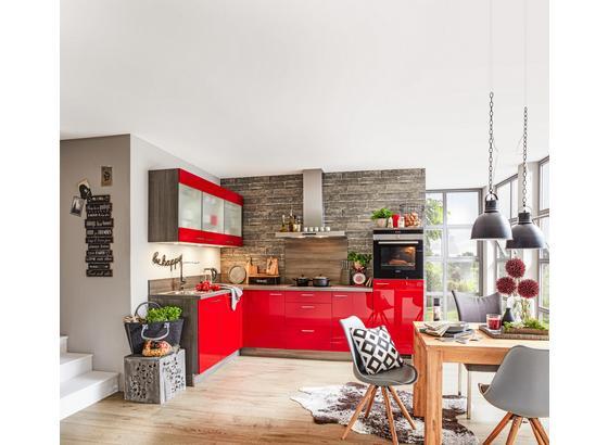 Rohová Kuchyňa Star - červená (175/285cm)