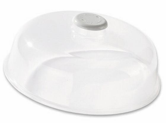 Mikrowellendeckel Weiß - Klar, KONVENTIONELL, Kunststoff (24.5/9.5cm)