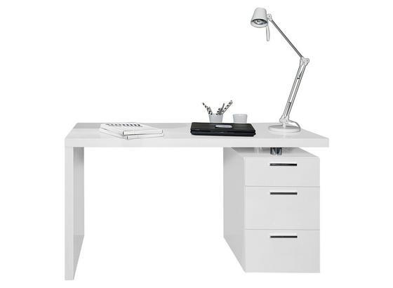 Písací Stôl Johny - biela, Moderný (140/75/65cm)