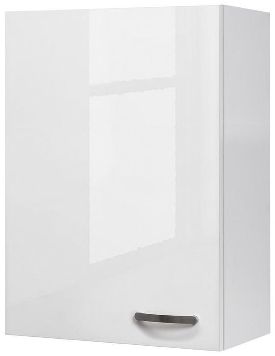 Kuchyňská Horní Skříňka Alba  H 60-89 - bílá, Moderní, dřevěný materiál (60/89/32cm)