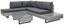 Loungegarnitur Faro - Klar/Weiß, MODERN, Glas/Kunststoff (210/264cm) - Luca Bessoni