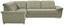 Wohnlandschaft in L-Form Richmond 206x285 cm - Beige/Silberfarben, KONVENTIONELL, Holz/Holzwerkstoff (206/285cm) - Ombra