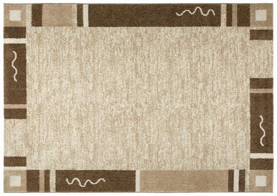 Webteppich Luisa 80x150 cm - Beige/Braun, KONVENTIONELL, Textil (80/150cm) - Ombra