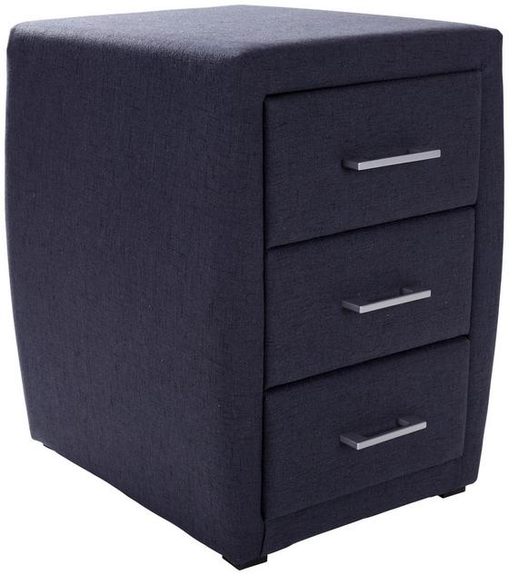 Nachtkästchen Allegra Dunkelgrau (USB) - Dunkelgrau/Schwarz, KONVENTIONELL, Holzwerkstoff/Kunststoff (52/66/46cm)