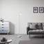 Stojíci Lampa Mauro - bílá, Moderní, kov (19/145cm) - Modern Living
