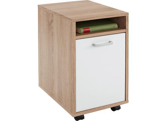Kontajnér Na Kolieskach Laurenc - farby dubu, Moderný, drevo/plast (33/59,5/38cm)