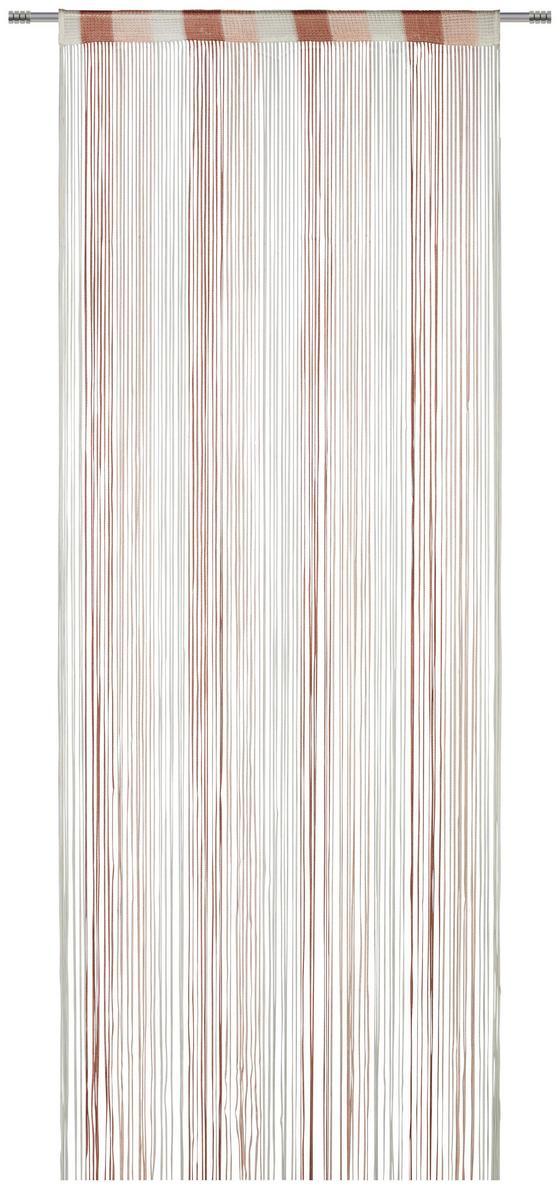 Záclona Provázková String - bílá/růžová, textil (90/245cm) - Premium Living