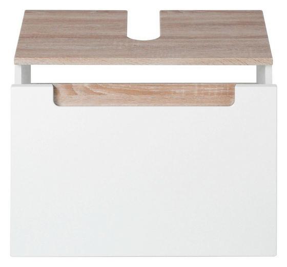 Waschbeckenunterschrank Siena 60cm Weiß/sonoma Eiche - Weiß/Sonoma Eiche, MODERN, Holzwerkstoff (60/40/35cm)