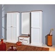 Spiegel Westerland B: 64 cm Weiß - Braun/Weiß, LIFESTYLE, Glas/Holz (64/145/3,5cm) - Carryhome