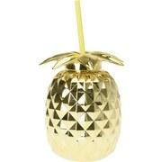 Trinkbecher B: 13 cm Goldfarben - Gelb/Goldfarben, Basics, Kunststoff (13/15cm)