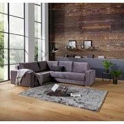 Sedacia Súprava Giovanni - sivá/béžová, Moderný, drevo/textil (217/277cm) - Ombra