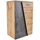 Komoda Venedig - šedá/barvy dubu, Moderní, dřevěný materiál (80/110/40cm)