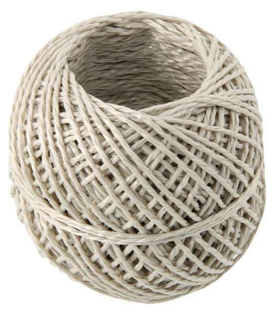 Zsinór Gomolyagban - világosbarna, konvencionális, textil (500cm)