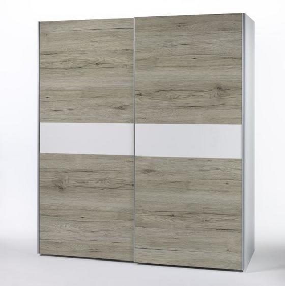 Skříň S Posuvnými Dveřmi Viktor 4 - bílá, Moderní, dřevěný materiál (215/210/63cm)