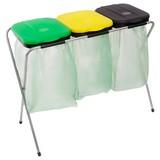 Müllsackständer Easy Fix 3 ca. 96/42/78cm - Gelb/Schwarz, Kunststoff/Metall (96/42/78cm)