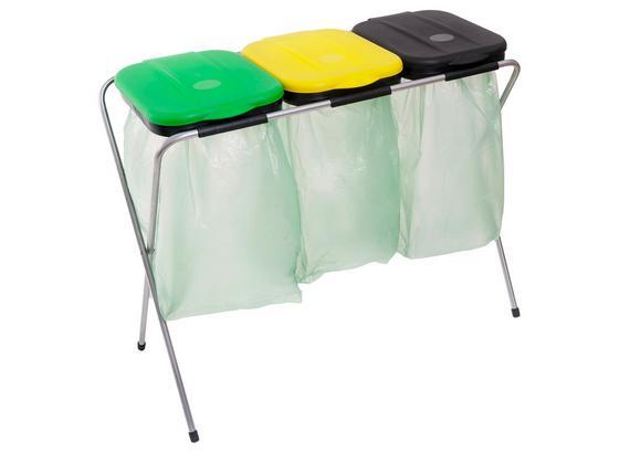 Müllsackständer Easy Fix 3 - Gelb/Schwarz, Kunststoff/Metall (96/42/78cm)
