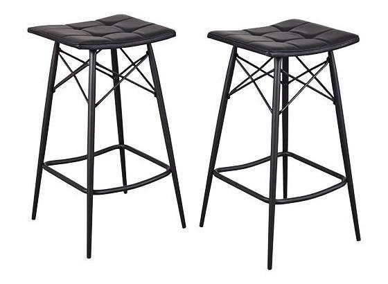 Barová Židle Jacky - černá, Lifestyle, kov (43/77/43cm)