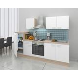 Küchenblock Economy 270cm Eiche/Weiß - Eichefarben/Weiß, Basics, Holzwerkstoff (270cm) - MID.YOU
