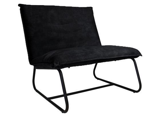 Sessel Paris Bench B: 83 cm Anthrazit - Anthrazit/Schwarz, MODERN, Textil (83/83/75cm) - Livetastic