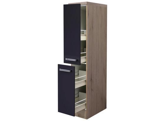 Potravinová Skrinka Milano - farby dubu/antracitová, Moderný, kompozitné drevo (30/162/57cm)