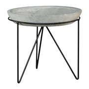 Dekoračný Tanier Noma - sivá, kov/keramika (23,5/4cm)