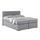 Boxspringbett Nero Liegefläche ca. 160x200cm - Chromfarben/Grau, KONVENTIONELL, Textil (160/200cm)
