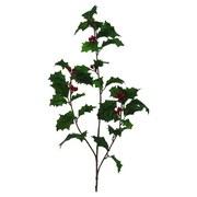 Dekozweig Grün - Rot/Grün, KONVENTIONELL, Kunststoff (70cm)