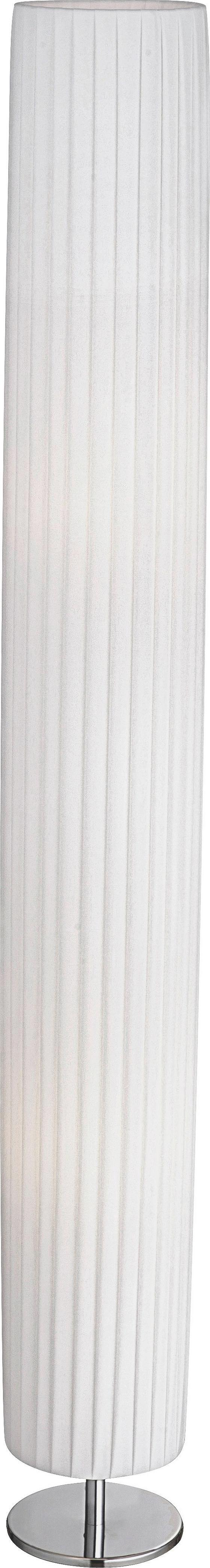 Stehleuchte Ella - Weiß, KONVENTIONELL, Textil/Metall (15/119cm)