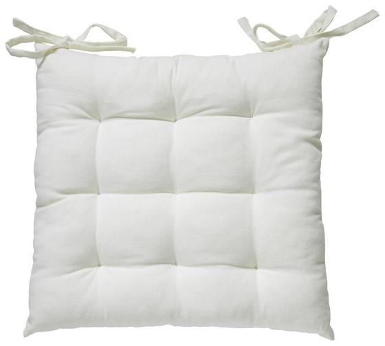 Sedák Bill - bílá, textilie (40/40cm) - Mömax modern living