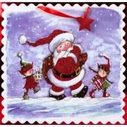 Geschenktasche Christmas Comic - Blau/Rot, Basics, Karton (45/45/12cm)