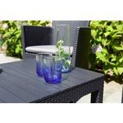 Gartentisch höhenverstellbar Lyon Polyrattan L 116 cm - Graphitfarben, MODERN, Kunststoff (116/40/64/72cm) - Allibert