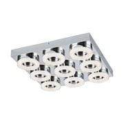 LED-Deckenleuchte Fradelo - Chromfarben/Klar, MODERN, Glas/Kunststoff (44/44/7cm)