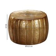 Couchtisch Rund Orient-Style Jamal, Goldfarben - Goldfarben, LIFESTYLE, Metall (60/60/36cm) - MID.YOU