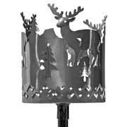 Gartenfackel H: 150cm - Grau, ROMANTIK / LANDHAUS, Metall (15/150cm)