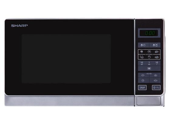 Mikrowelle Solo R-242inw - Silberfarben/Schwarz, MODERN, Glas/Kunststoff (44/26/36cm) - Sharp