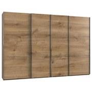 Schwebetürenschrank Level 36a (art. F02534) - Eichefarben, Basics, Holzwerkstoff (350/216/65cm)