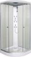 Zuhanykabin Tc01 - Króm/Fehér, konvencionális, Műanyag/Üveg (90/90/210cm)