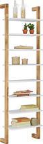 Regál Durham - prírodné farby/biela, Moderný, drevo/kompozitné drevo (55/180/25cm) - Mömax modern living