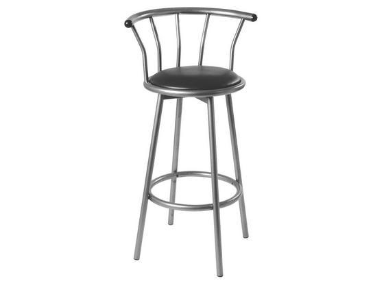 Barová Stolička Flip - čierna, Konvenčný, umelá hmota/kov (53/98/44cm)