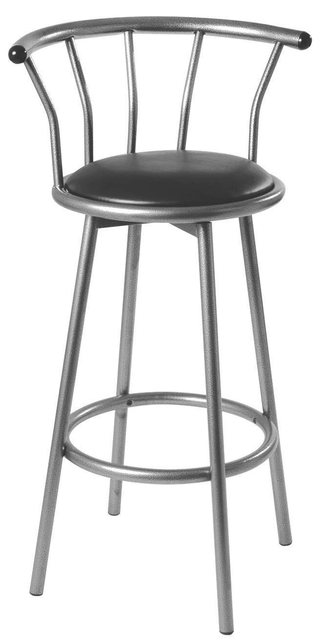 Bárszék Flip - fekete, konvencionális, műanyag/fém (53/98/44cm)