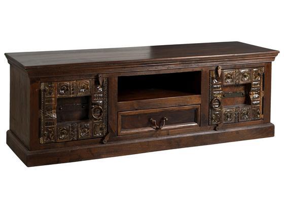 Lowboard Leon B: 150 cm Recyclingholz - Braun/Bronzefarben, Basics, Holz (150/50/45cm)