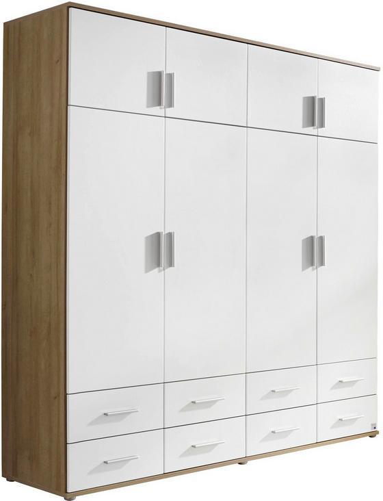 Drehtürenschrank Kemi 181 cm Eiche/ Weiß - Eichefarben/Weiß, MODERN, Holzwerkstoff (181/194/53cm)