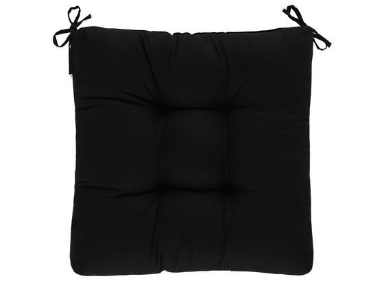 Sedací Vankúš Elli -top- - čierna, textil (40/40/7cm) - Based